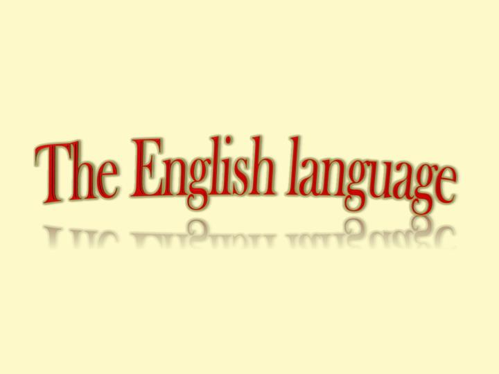the english language n.