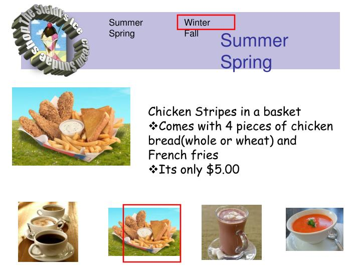 Chicken Stripes in a basket