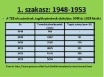 1 szakasz 1948 19531