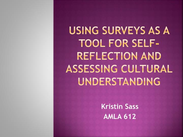 using surveys as a tool for self reflection and assessing cultural understanding n.
