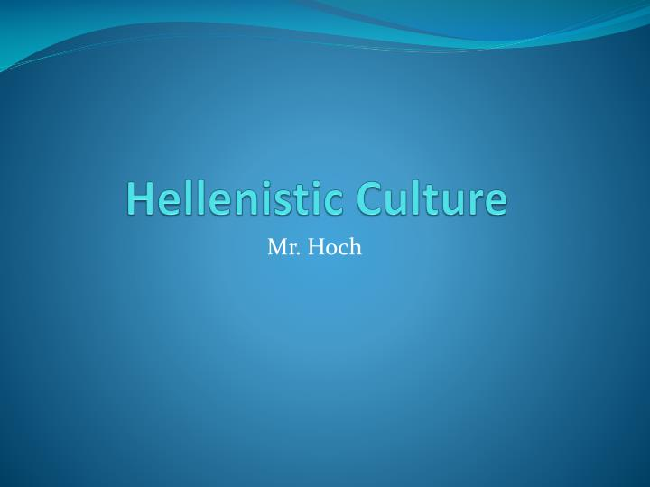 hellenistic culture n.