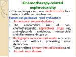 chemotherapy related nephrotoxicity