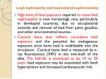 lead nephropathy and lead related nephrotoxicity