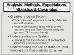analysis methods expectations statistics covariates