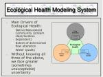 ecological health modeling system