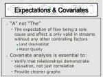 expectations covariates