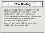 flow routing