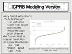 icprb modeling version