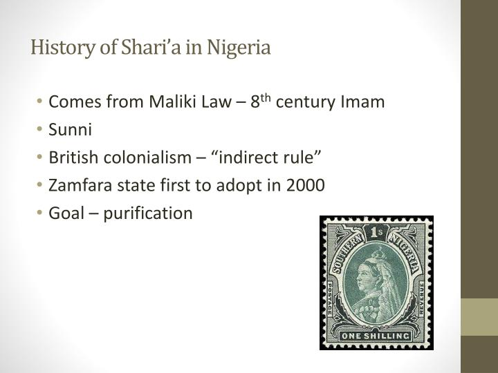 History of shari a in nigeria