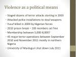 violence as a political means