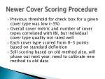 newer cover scoring procedure