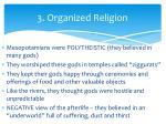 3 organized religion