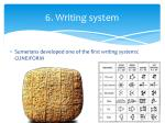 6 writing system