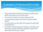 examples of hammurabi s code