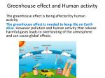 greenhouse effect and human activity
