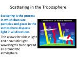 scattering in the troposphere