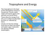 troposphere and energy