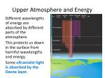 upper atmosphere and energy