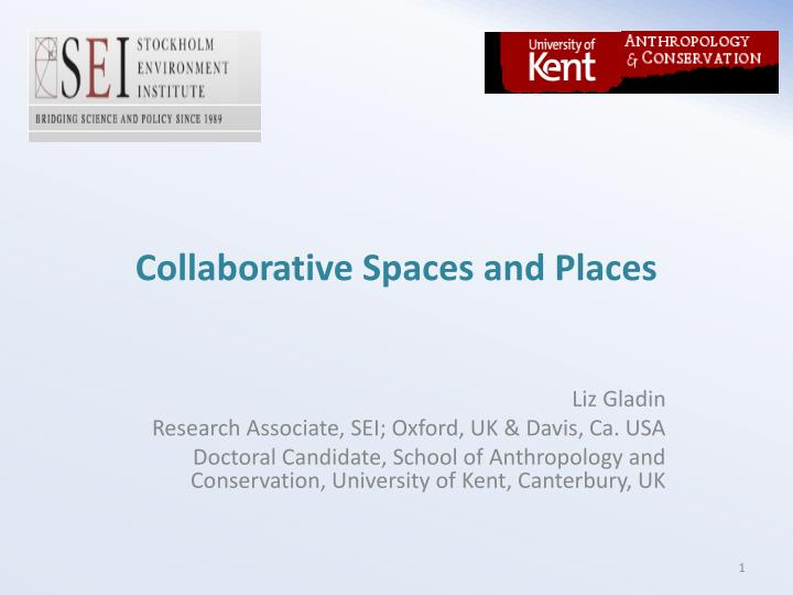collaborative spaces and places n.