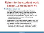 return to the student work packet and student 11