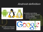 android definition