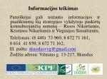 informacijos teikimas