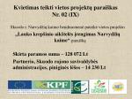 kvietimas teikti vietos projekt parai kas nr 02 ix