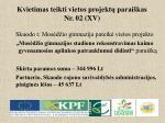 kvietimas teikti vietos projekt parai kas nr 02 xv