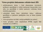 vietos projekto tinkamumo reikalavimai iii