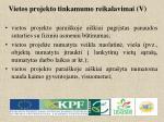 vietos projekto tinkamumo reikalavimai v