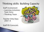 thinking skills building capacity
