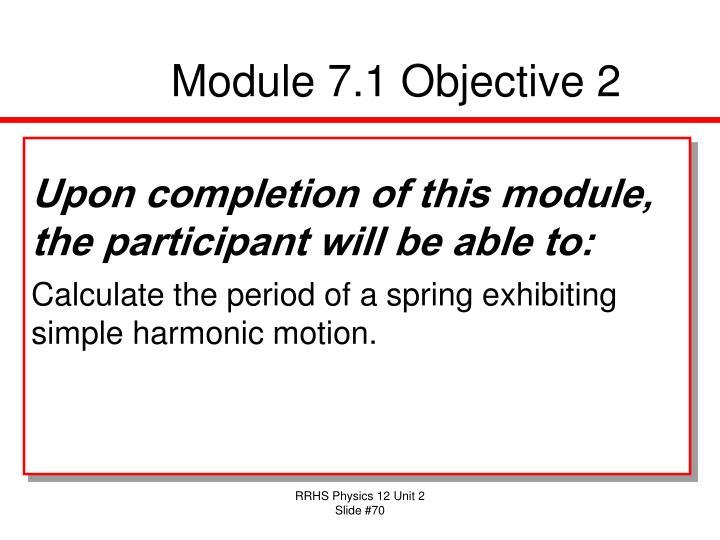 Module 7.1 Objective 2