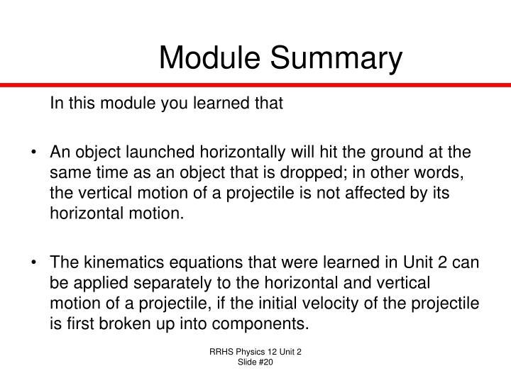 Module Summary