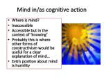 mind in as cognitive action