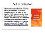 self as metaphor
