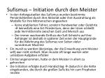 sufismus initiation durch den meister