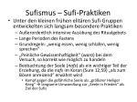 sufismus sufi praktiken