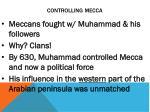 controlling mecca