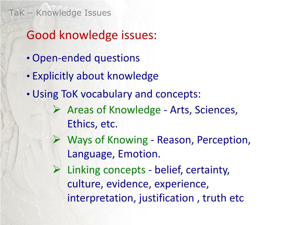 PPT - Knowledge Issue What is a Knowledge Issue? Questions