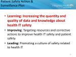 patient safety action surveillance plan