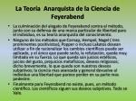 la teor a anarquista de la ciencia de feyerabend1