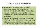 islam 5 recht und moral