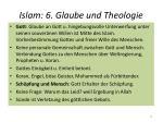 islam 6 glaube und theologie