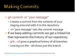 making commits
