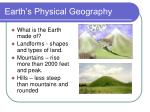 earth s physical geography6