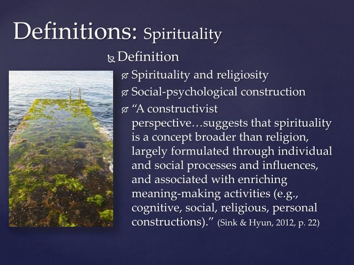 Definitions: