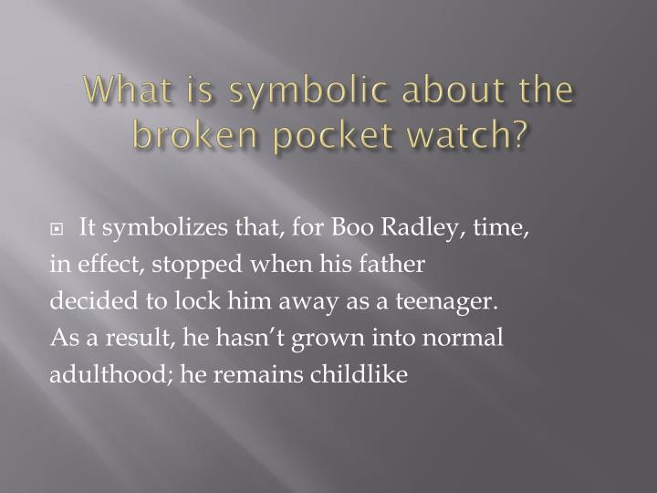 What is symbolic about the