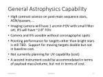 general astrophysics capability
