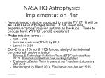nasa hq astrophysics implementation plan
