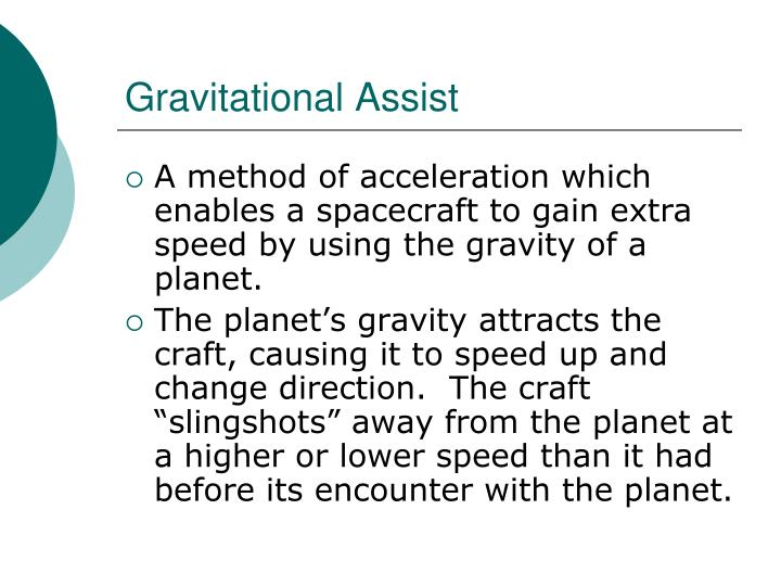 Gravitational Assist